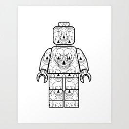 Skull-Brick Art Print