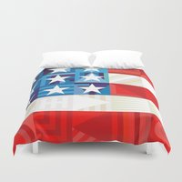 america Duvet Covers featuring America by Fimbis