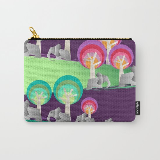 Walking With Elephants Carry-All Pouch