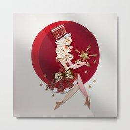 Red Magic Woman Metal Print