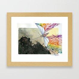 The Effect of Light in Darkness Framed Art Print