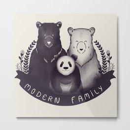 Modern Bear Family Metal Print