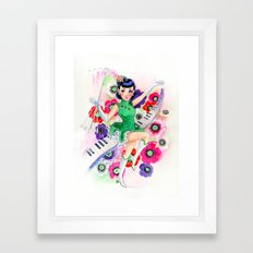 Majorette Direction Framed Art Print