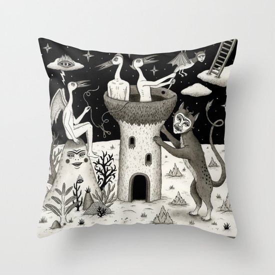 Scissors, String and Solitude  Throw Pillow