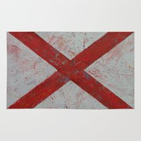 alabama Area & Throw Rugs featuring Alabama by Michael Creese