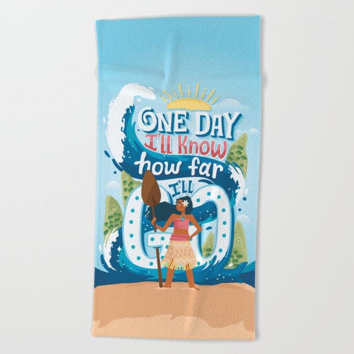 The ocean chose me Beach Towel