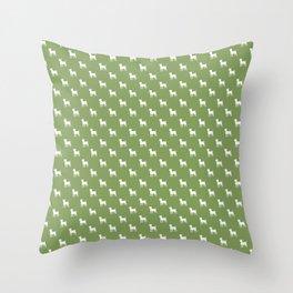 Jack Russell terrier pattern Throw Pillow