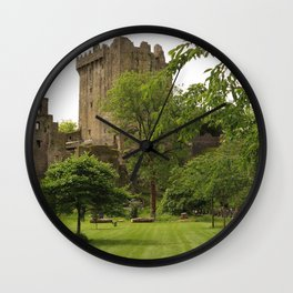 Ireland Fortress Blarney Castle, county Cork castle Grass Trees Cities Fortification Castles Wall Clock