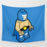 demon Wall Tapestries featuring BLUE DEMON by Jango Snow