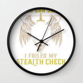 Failed My Stealth Check RPG Role Playing Gaming Wall Clock