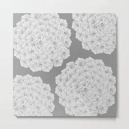 Flowerpower - Flower Balls On A Grey Background - #society6 Metal Print