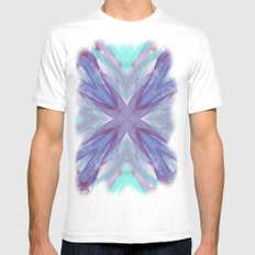 Watercolor Abstract MEDIUM Mens Fitted Tee White