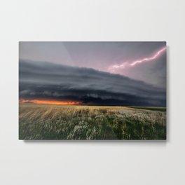 Steamroller - Storm Spans the Kansas Horizon Metal Print