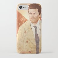castiel iPhone & iPod Cases featuring Castiel by Vaahlkult