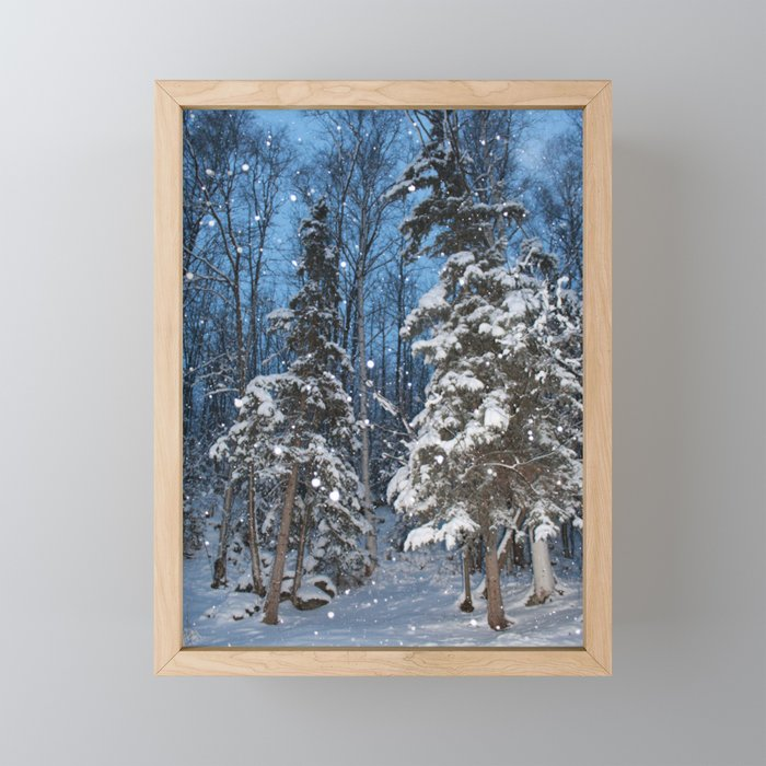 Bright Winter Snow 2 Framed Mini Art Print