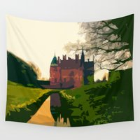castle Wall Tapestries featuring Castle by Mimi Matloob Designs
