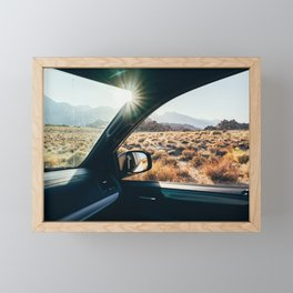 Roadtrip Sunset Framed Mini Art Print