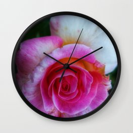 Spiral Rose Wall Clock