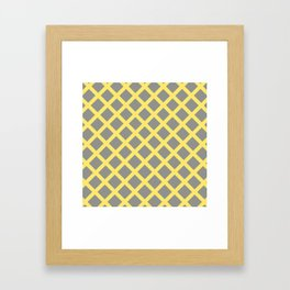 Grey and Yellow Grill Framed Art Print