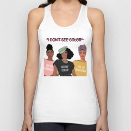 See Color Unisex Tank Top