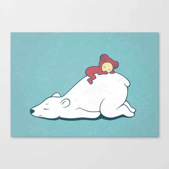 Polar nap Canvas Print