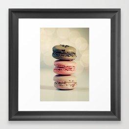 macarons . . . Framed Art Print