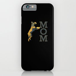 Giant Schnauzer MOM College Style Letters iPhone Case