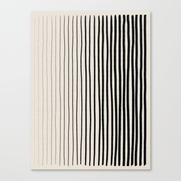 Black Vertical Lines Canvas Print