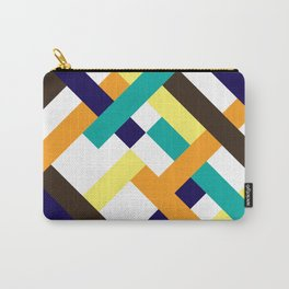 """Geometric Print """"Broken Weave"""" Carry-All Pouch"""