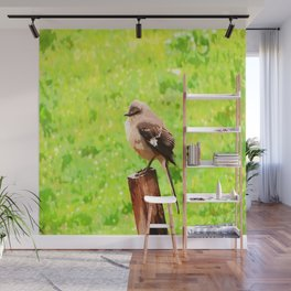 The Bird Painting Wall Mural