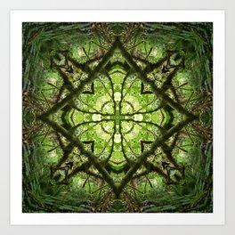 four leaf clover in a diamond Art Print