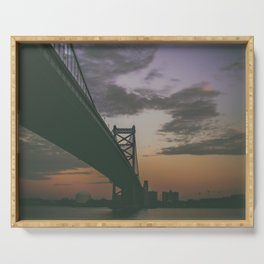 Ben Franklin Bridge Serving Tray