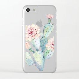 The Prettiest Cactus Clear iPhone Case