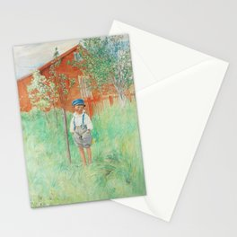 Carl Larsson Little Boy Standing by an Apple Tree Stationery Cards
