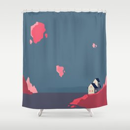 A lonely house in a floating world Shower Curtain