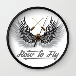 Row to Fly Wall Clock