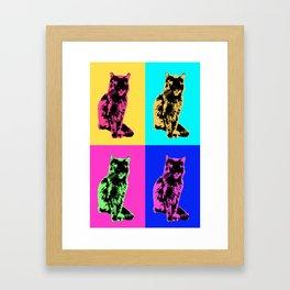 Cat Pop Framed Art Print