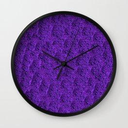 Purple Eft Wall Clock