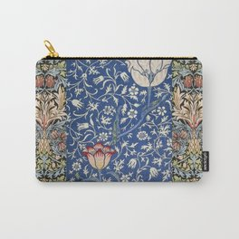 William Morris Victorian blue flowers Carry-All Pouch