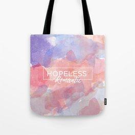 Hopeless Romantic Quote Tote Bag