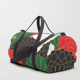 Japanese Chrysanthemum Duffle Bag