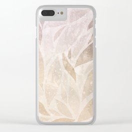 Brownie leaves Clear iPhone Case