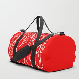 White crinkles Duffle Bag