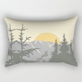Ski Mountain Sun and Trees - Breckenridge  Rectangular Pillow