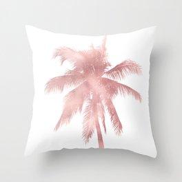 Palm Tree | Rose Pink Throw Pillow