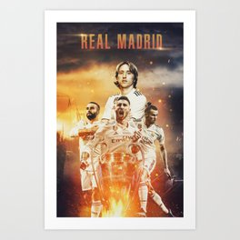 Real Madrid Champions Art Print