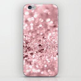 Rose Gold Blush Girls Glitter #1 #shiny #decor #art #society6 iPhone Skin