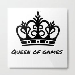 The gaming Queen Metal Print