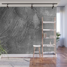 textured jute fabric for background and texture Wall Mural