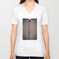 dot V-neck T-shirts featuring Dot V (melt) by Metron